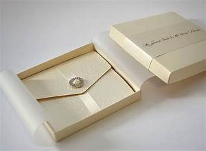 Partysoon ivory belted wedding invitation boxes uk for Wedding invitations in boxes uk