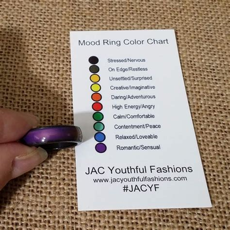mood color meanings 17 best mood rings images on mood rings