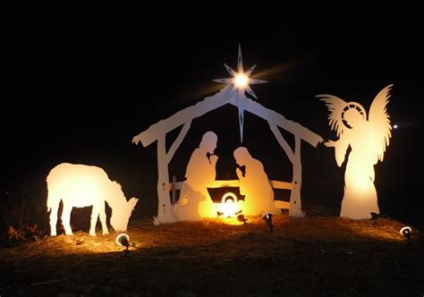 lighted outdoor nativity woodworking