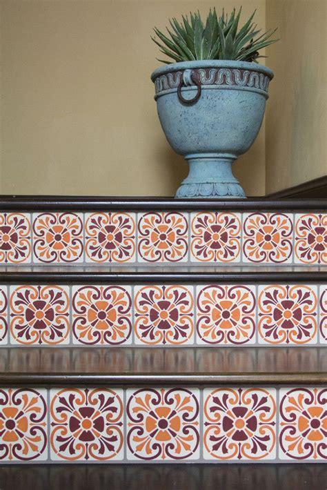 tuscan tile stencil  world mediterranean italian