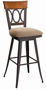 Furniture Rustic Green Metal And Wood Bar Stool With Back