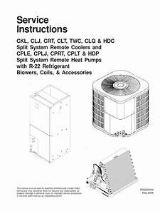 Goodman  Service Instructions