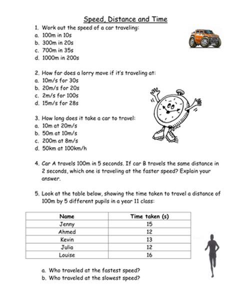 Speed, Distance And Time Calculations By Mangahighcom  Teaching Resources Tes