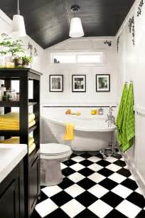black and white bathroom tile design ideas optical illusion graphic appeal 23 savvy and inspiring small bath designs this house