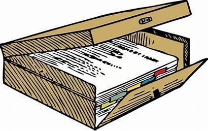 Clip Box Clipart Filing Vector Case Legal