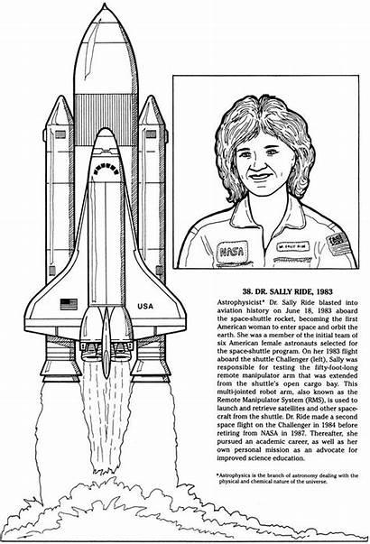 History Sally Ride Famous Nasa Dover Publications