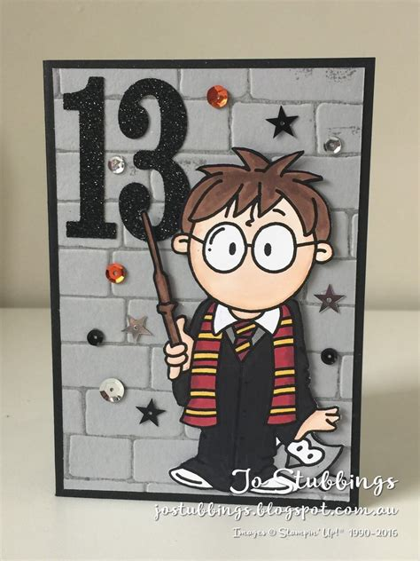 jos stamping spot magical harry potter birthday harry