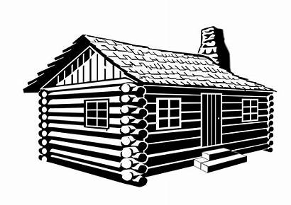 Cabin Silhouette Clip Clipart Transparent Drawing Cottage