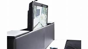 Lit Tv Intégré : meuble tv pied de lit maison design ~ Teatrodelosmanantiales.com Idées de Décoration
