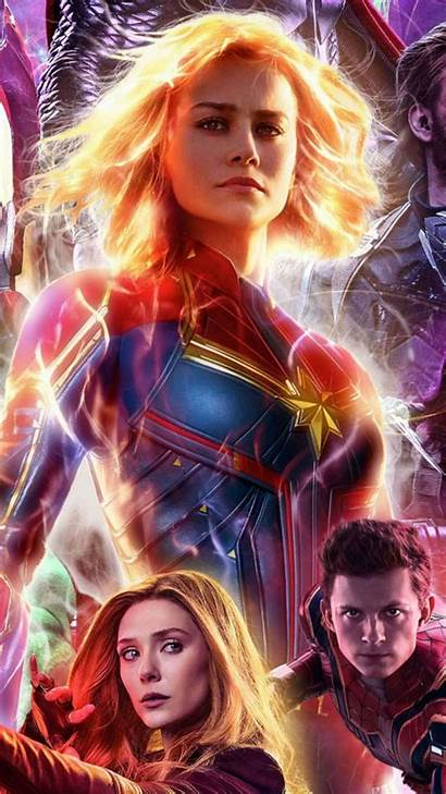 Marvel Wallpapers Endgame Avengers Female Captain Wallpaperaccess