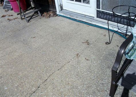 what to do with an cracked concrete patio patio