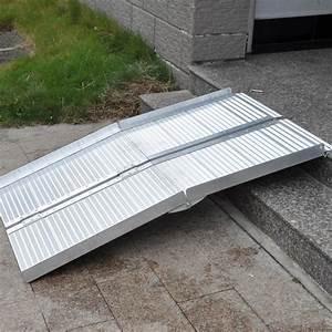 Rampe D Accès Pliable : rampe fauteuil roulant rampe d 39 acc s 305 cm 270kg 2x pliable aluminium v hicule ebay ~ Nature-et-papiers.com Idées de Décoration
