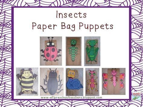 esl efl preschool teachers insects bugs paper bag 423 | 3e257c134d52468811964fd9e9c73f20