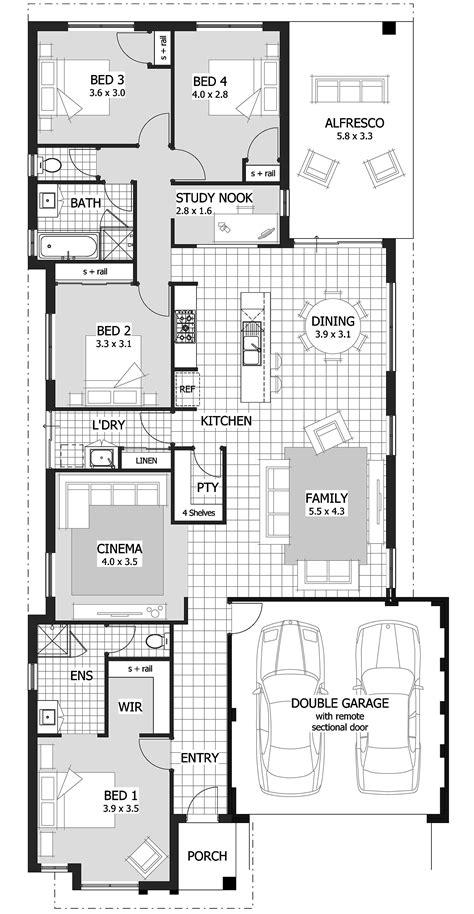 amusing narrow lot single storey house plans   idea house plans australia