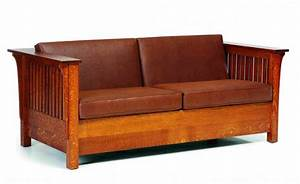 Mission style sofa bed amish originals amish furniture for Mission style sofa bed