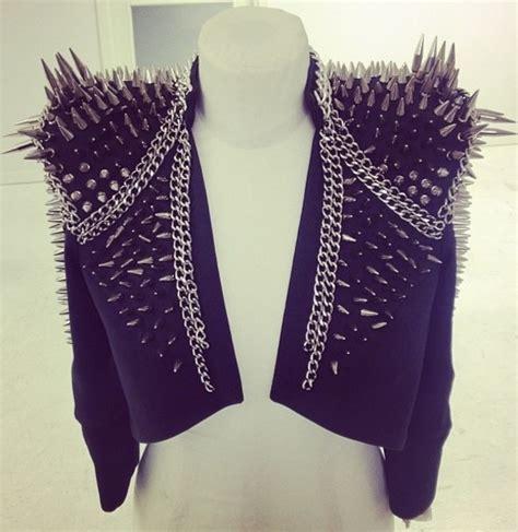 Jacket: spikes, spiked moto jacket, spiked leather jacket