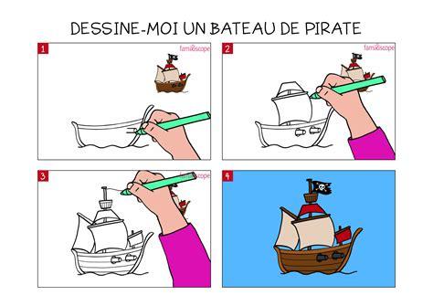 Dessin Bateau Pirate Couleur by Apprendre 224 Dessiner Un Bateau De Pirate En 3 233 Tapes