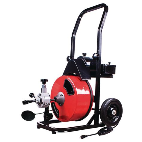 Snakes For Plumbing by Theworks 1 2 In X 50 Ft Power Feed Drain Cleaner Machine