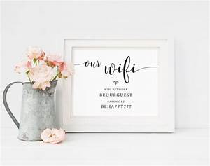best 25 guest room sign ideas on pinterest wifi With wedding website password ideas