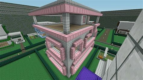 pink cube concept house minecraft map
