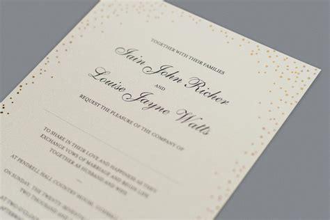 wedding invitation wording      foil