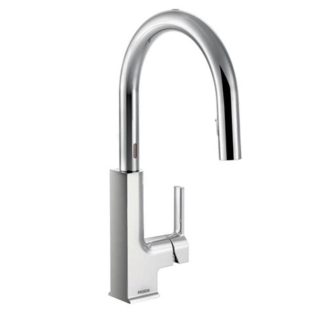 moen single handle kitchen faucets moen sto single handle pull sprayer touchless kitchen