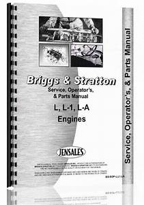 Briggs And Stratton L  L1 La Engine Service Manual