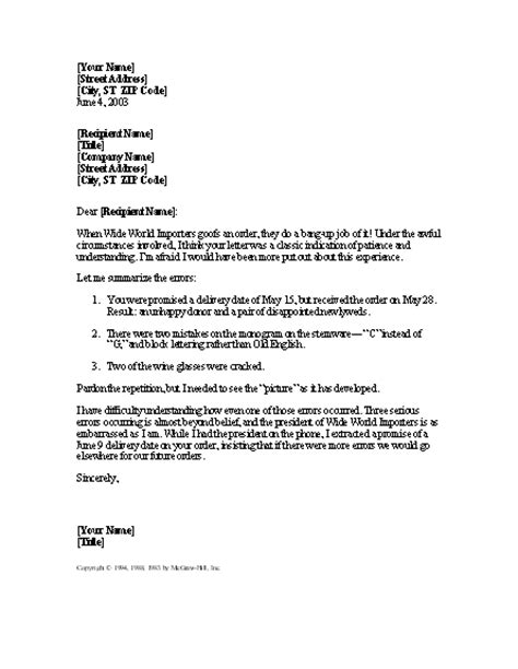 letter apologizing   companys error