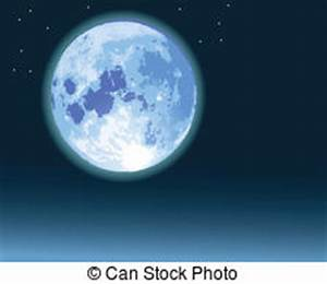 Blue clipart full moon - Pencil and in color blue clipart ...