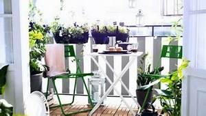Ikea Table Balcon : id es d co pour un balcon ou une terrasse intime ~ Teatrodelosmanantiales.com Idées de Décoration