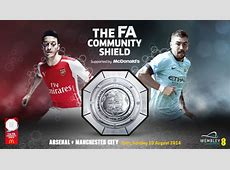 Arsenal vs Manchester City, FA Community Shield Starting