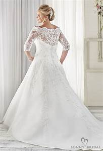 Bonny bridal wedding dresses unforgettable styles for for Plus wedding dress with sleeves