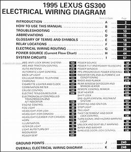 1995 Lexus Gs 300 Wiring Diagram Manual Original