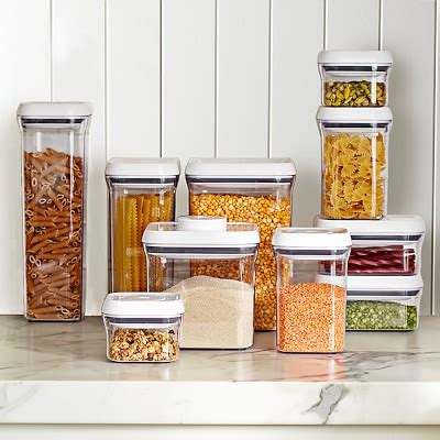 kitchen storage containers set oxo pop containers williams sonoma 6163