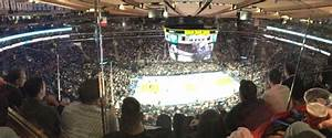 Square Garden Basketball Seating Chart Square Garden Section 312 Row 2 Seat 18 New