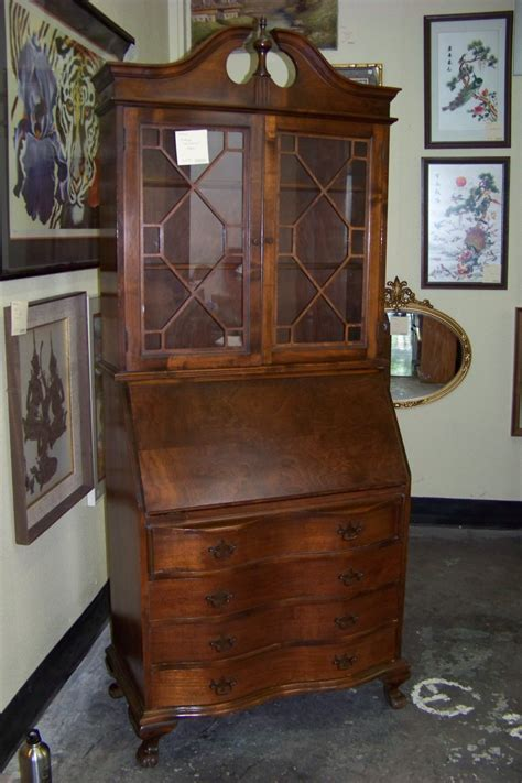 vintage secretary desk with hutch furniture traditional wood secretary desk with hutch and
