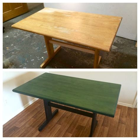 thrift store table makeover  rit dye wood rit dye