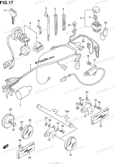 suzuki atv 2003 oem parts diagram for wiring harness partzilla com