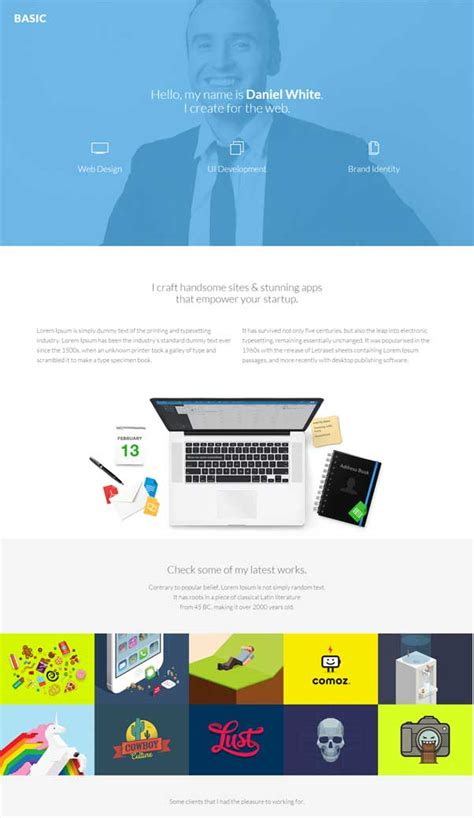 Basic Website Templates 30 Bootstrap Website Templates Free