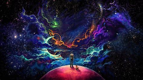 Wallpaper Man, Puppy, Universe, Dream, Stars, Deep Space