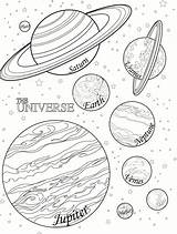 Coloring Pages Planet Print Printable Planets Solar System Universe sketch template