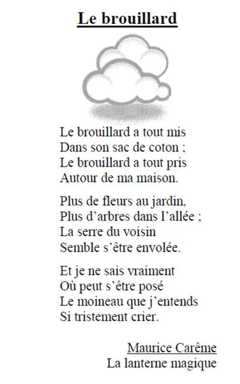 Maurice CarÊme  Le Brouillard (cp à Cm2) Primaire