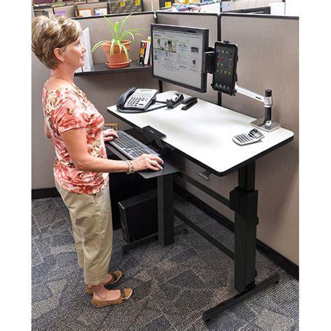 ergotron workfit d bureau assis debout meuble ordinateur ergotron sur ldlc