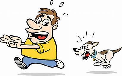 Dog Clipart Chase Cartoon Scared Mean Angry