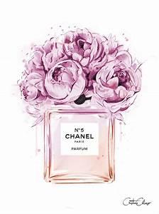 art chanel parfum illustration flowers hmmm With affiche chambre bébé avec parfum fleur de rose