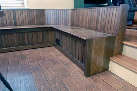 hand crafted custom built  dining room bench seating