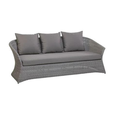 canapé résine tressée canapé en résine tressée 3 places gris ou poivre brin d