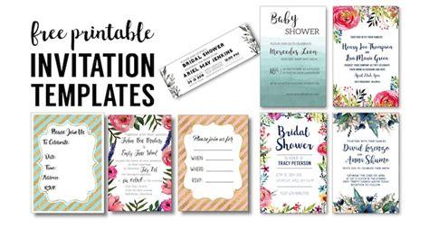 Free Printable Bridal Shower Invitations - invitation templates free printables paper trail