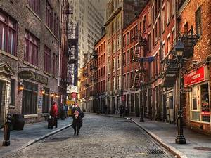 Cobblestone streets in Manhattan