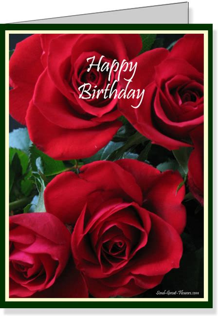7 Best Images Of Free Printable Birthday Cards Roses  Free Printable Birthday Cards For Him